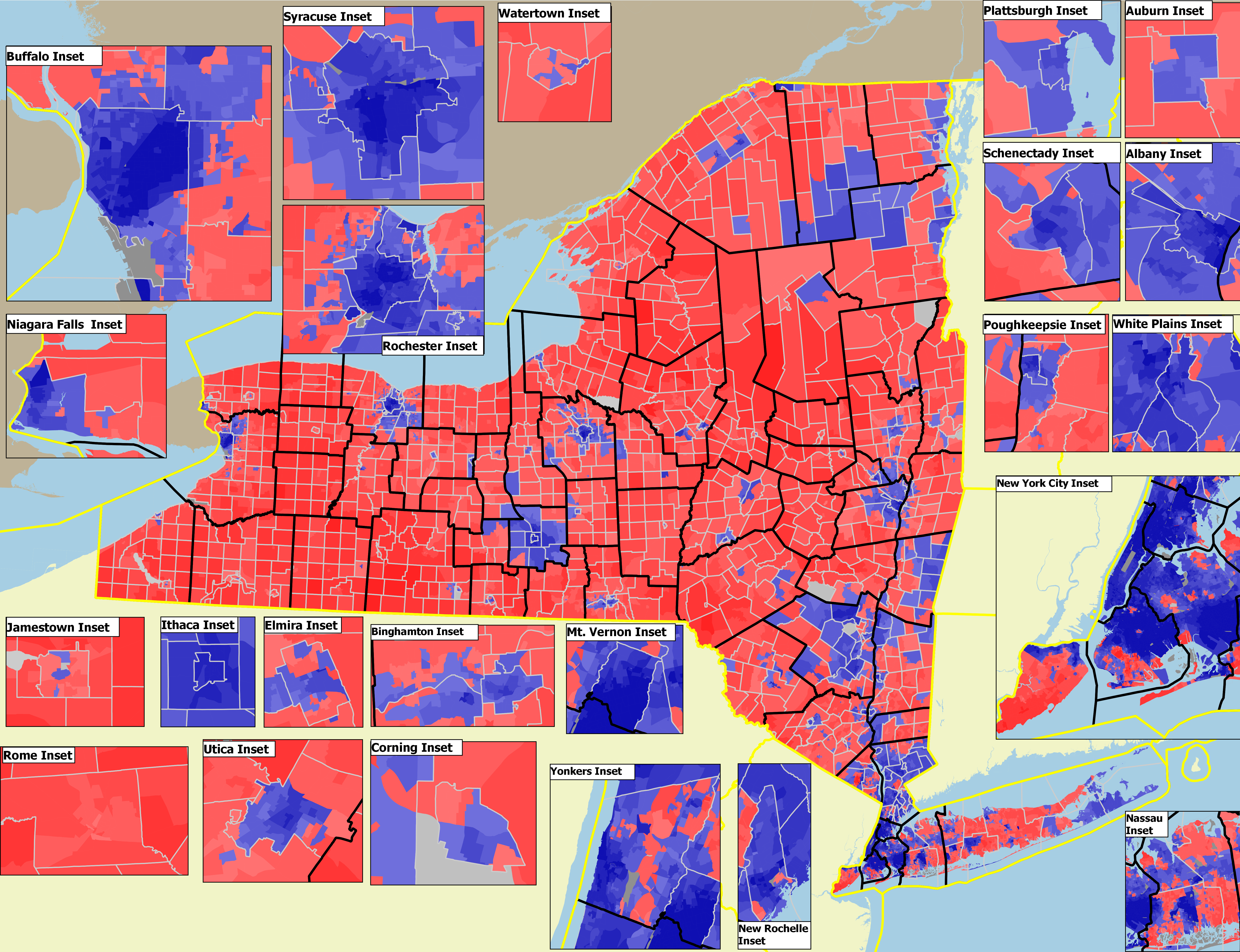 Interactive map of 2016 and 2018 New York statewide election results by precinct