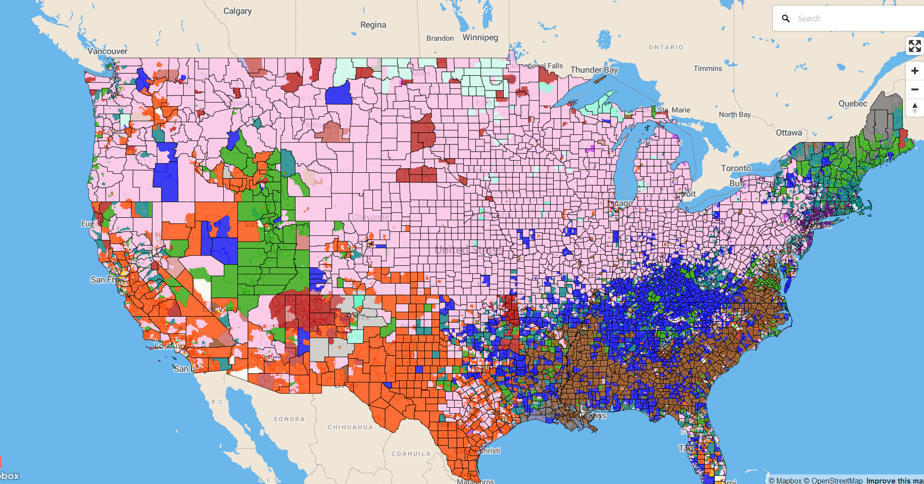 Interactive map of the Top Ancestry or Racial or Hispanic Subgroup with AA Estimate by Census Tract.